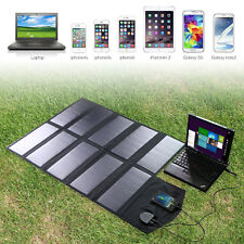 18V 60W Solar Panel Foldable Charger Backup Laptop Computer USB Charged Devices