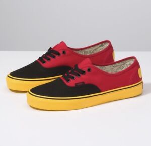 7ce4a5b57b Vans x Disney Authentic Mickey Mouse Red Yellow Black Mens and Kids ...
