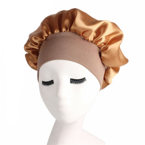 Long Hair Care Women Fashion Satin Bonnet Cap nuit de sommeil en soie Chapeau head wrap USA