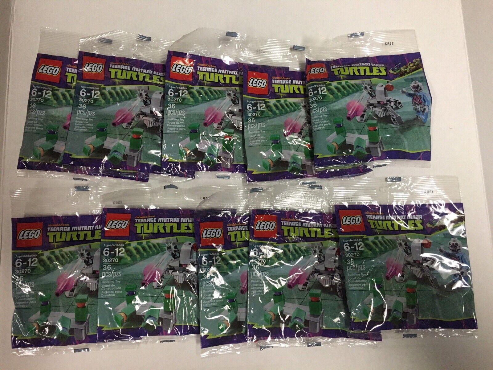 Lote de 10 Lego Tortugas Ninjas Adolescentes Mutantes TMNT 30270 Kraang Nuevo. polybags