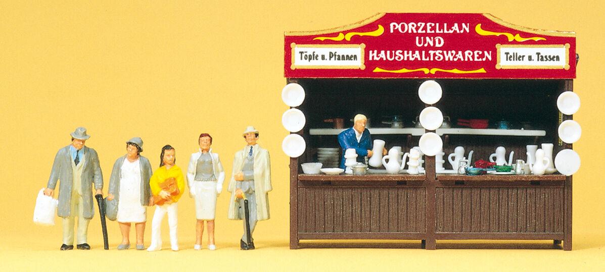 Preiser 24693 Carnival Booth Porcelain, H0
