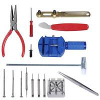 16pcs/Set Watch Repair Tool Kit Band Pin Strap Link Remover Back Opener Remover