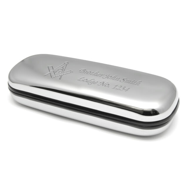 Spectacle Glasses Case Personalised Engraved Masonic Gifts Masons Present Lodge