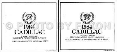 1984 Cadillac Deville and Fleetwood Gas Wiring Diagram Set COLOR Electrical
