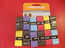 Head 12-pk Super Comp Racquet Grip  Overgrip Tennis Squash Badminton asst colors