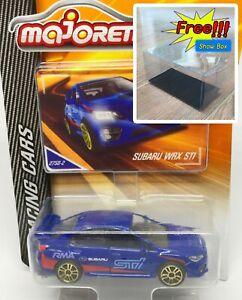 Majorette-Subaru-WRX-STI-Racing-Blue-Diecast-Car-1-58-275D-Free-Display-Box