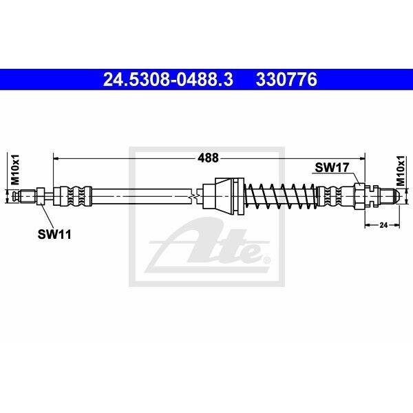 ORIGINAL ATE Bremsschlauch vorne links Ford KA Bj.96-