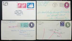 US-Postal-Stationery-Set-of-4-Covers-Letters-Envelopes-USA-Lupo-Letters-H-10889