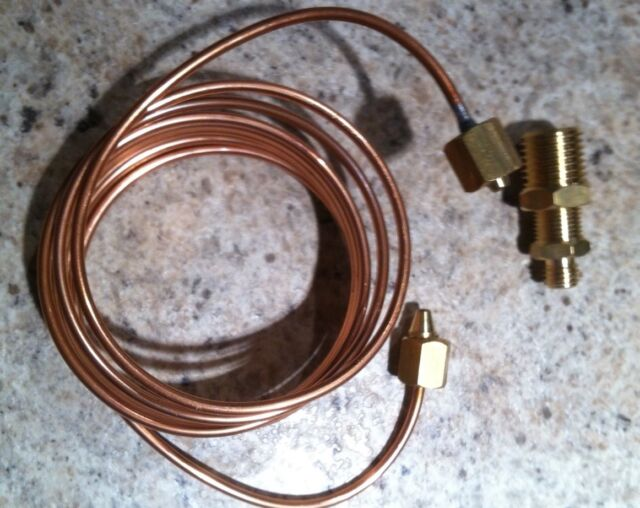 NEW AUTOMETER REPLACEMENT 1/8 INCH DIAMETER COPPER TUBING KIT 6'  FOR OIL GAUGES