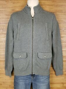 Banana-Republic-Gray-Full-Zip-Sweater-Coat-Mens-Size-Small-S-EUC