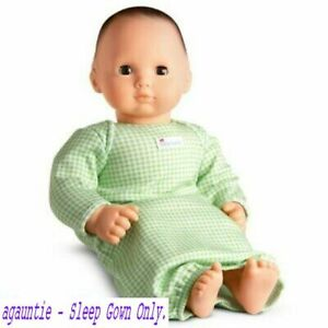 New Hard To Find American Girl Bitty Baby Basics SLEEP GOWN OUTFIT ONLY Twins
