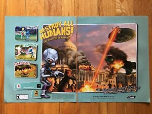 Destroy-All-Humans-Playstation-2-PS2-Video-Game-Poster-Ad-Art-Print
