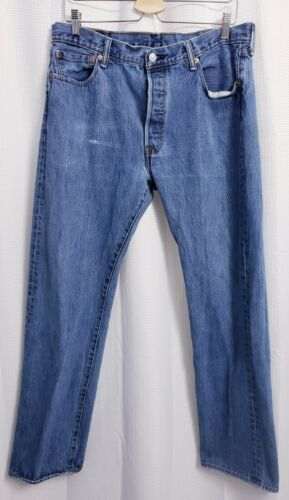 Levis 501 Original Fit Button Fly Distressed Jean… - image 1