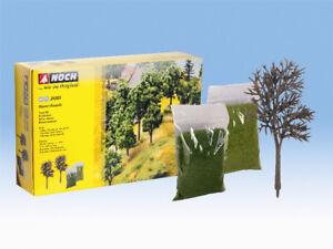 Noch-24301-Kit-25-alberi-da-montare-alti-8-cm-e-14-cm-H0-TT-modellismo