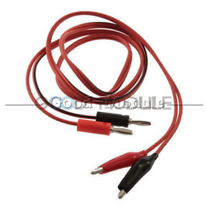 Alligator-Clip-Test-Leads-To-Banana-Plug-Probe-Cable-1M-Battery-Clamps