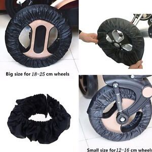 Black Floor Anti-dirty Case Wheel Care Stroller Wheel Cover Pram Protector