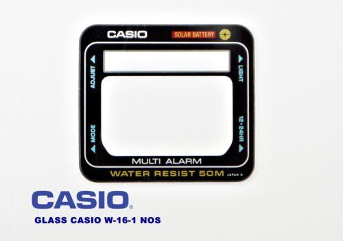VINTAGE GLASS CASIO W-16-1 NOS