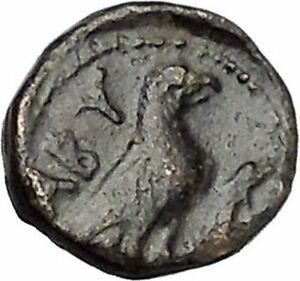 ABYDOS-in-TROAS-300BC-Ancient-Greek-Coin-APOLLO-Cult-Eagle-wings-closed-i47313