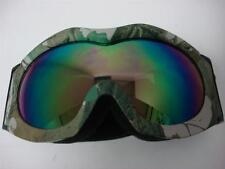 Youth Motocross ATV UTV Dirt Bike Off-road Ski Goggles Green Camo tinted lens