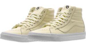 d55c336b690055 Vans Armor Leather Turtle Dove Sk8 Hi reissue Ivory White Sk8 Shoes ...