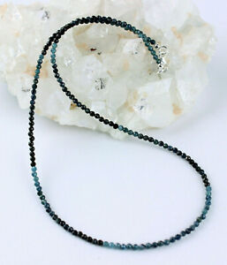 Tourmaline Necklace Precious Stone Color Gradient Blue Indicolite