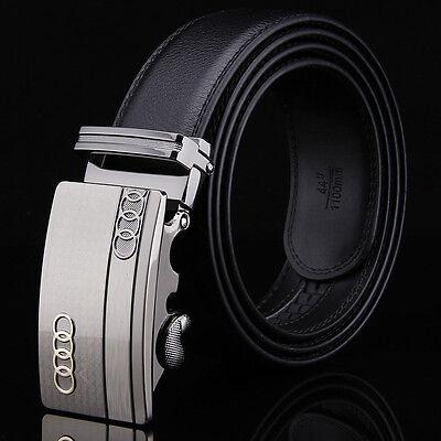 Fashion New Audi Automatic Buckle Designer Belts Men Genuine Leather Belt Waist