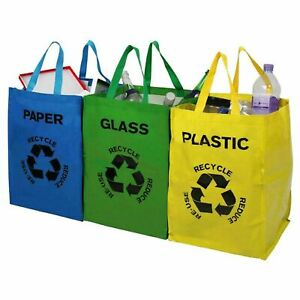 Set-Of-3-Recycling-Recycle-Bags-Colour-Coded-Plastic-Glass-Paper-Storage-Bin-Bag
