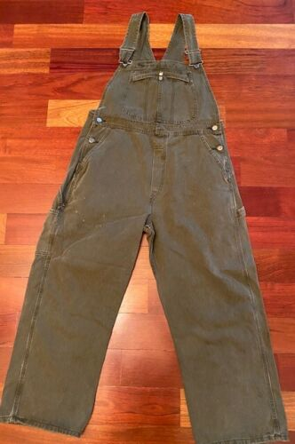 Lee Olive Green Overalls size Large Petite