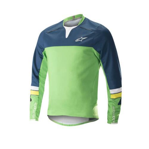 Alpinestars Jersey Drop Pro ls Poseidon bleu//vert-taille moyenne-SRP £ 65