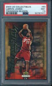 2003-04 Upper Deck Freshman Season LeBron James Rookie #60 PSA 7.5