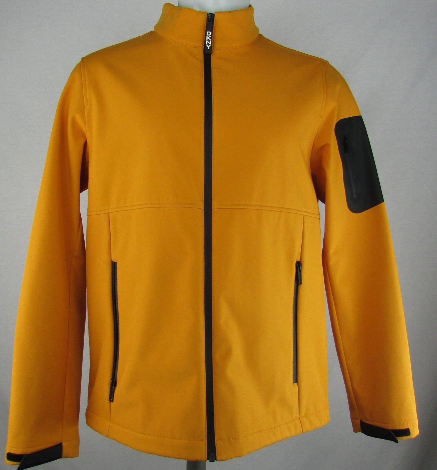 DKNY Men's orange Full Zip Windbreaker with Padded Collar(M)
