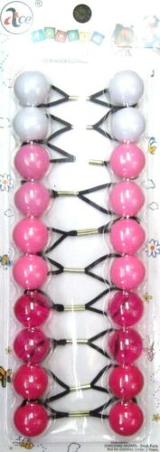 10 COUNT-20 MM ROUND GIRL/'S PONYTAIL HOLDER ELASTIC -130A