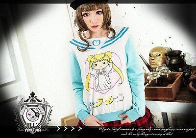 japan lolita cartoon sailor moon empress serenity sailor uniform tee JN0039 G
