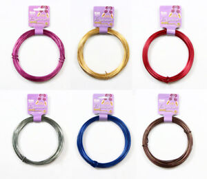 BeadSmith-Decorative-Aluminum-Craft-Wire-12-Gauge-39FT-11-89M-Many-Colors