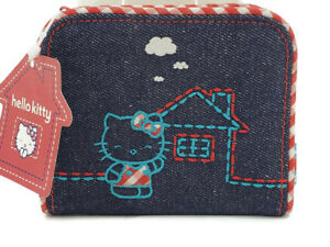 New-2003-Sanrio-Hello-Kitty-Denim-Coin-Purse-Wallet