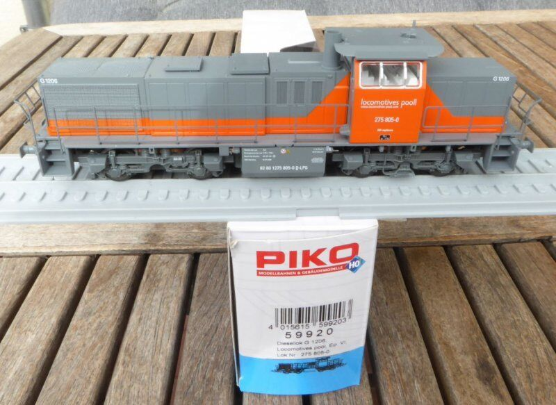 PIKO 59920 Diesel Locomotive Set Br G 1206  Pool  ep.6 with DSS + LED