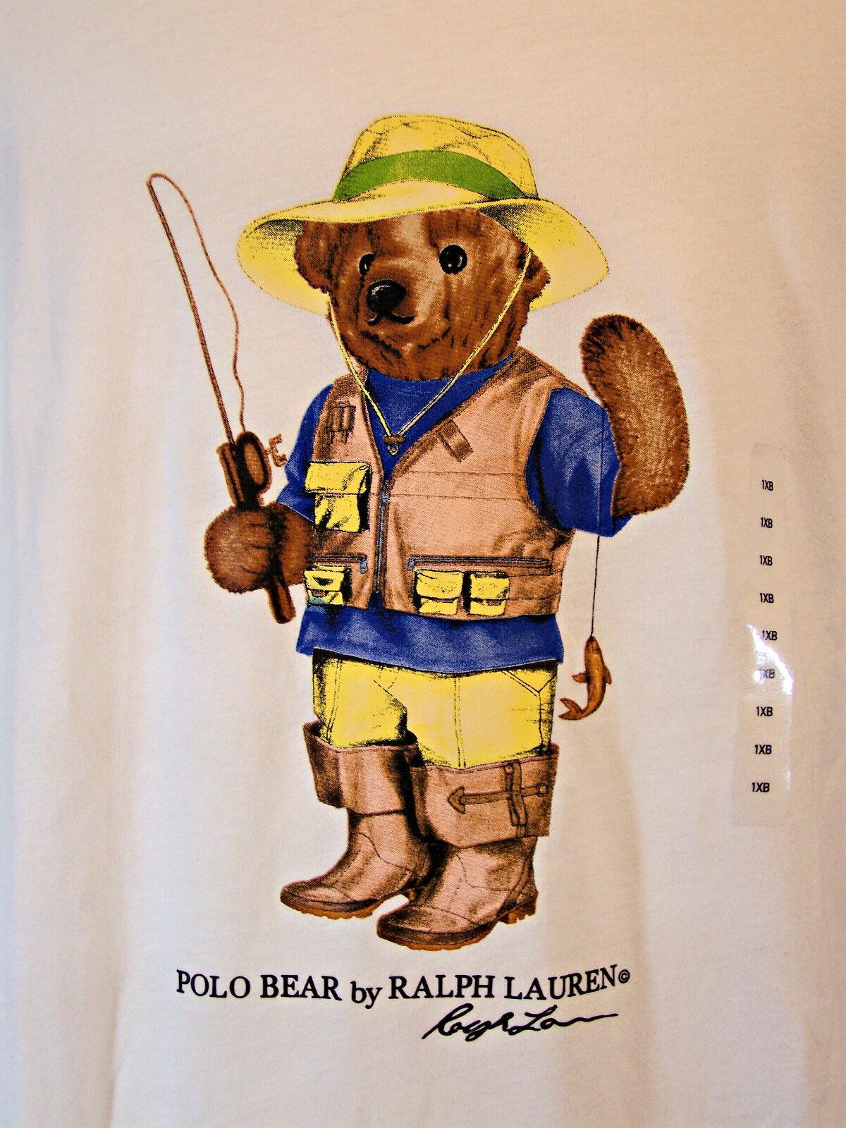 Polo Ralph Lauren  Herren Fisherman Bear T Shirt Big and Tall 1XB and 2XB Fishing