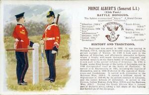 PRINTED-MILITARY-POSTCARD-OF-PRINCE-ALBERT-039-S-SOMERSET-L-I-BY-GALE-amp-POLDEN