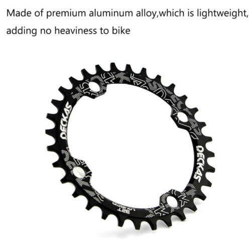 UK 104BCD 32-38T Chainring MTB Bike Narrow Wide Single Speed Chain Ring Bolts