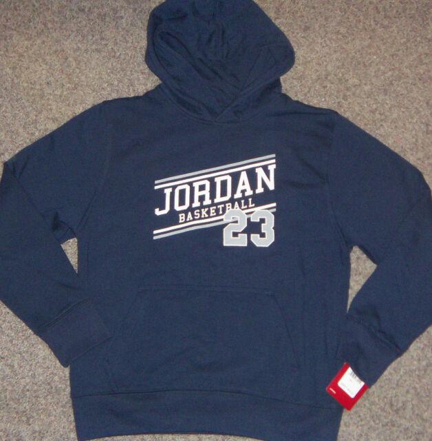 284c58efbb21 Boys Nike Jumpman Air Jordan Pullover Fleece Hoodie Jacket Size M ...