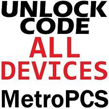 Unlock Code MetroPCS US All Models Premium Samsung LG HTC Nokia Sony ZTE etc