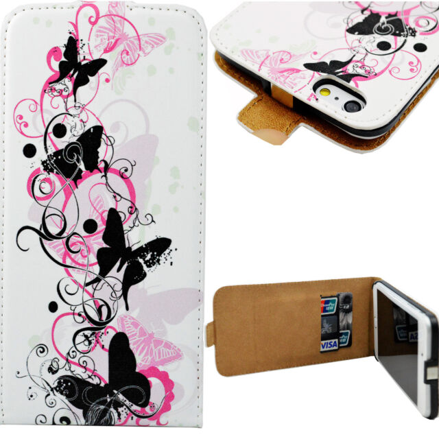 Butterfly Magnet Card Slot PU Leather Case Cover For Apple iPhone 6 6S Plus 5.5""