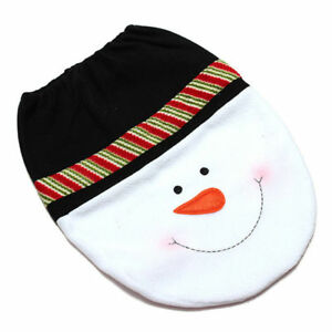 Image Is Loading CHRISTMAS MERRY XMAS DECORATION TOILET SEAT COVER SET