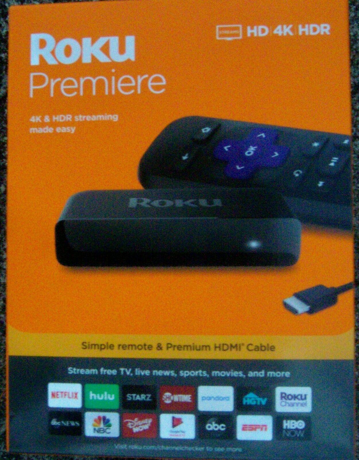 Roku - Premiere 4K Streaming Media Player - 3920R-Black media player premiere roku streaming