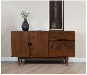 Image Is Loading Buffet Server Table Cabinet Sideboard Mid Century Modern
