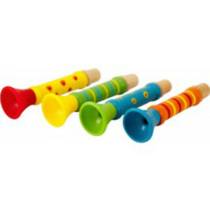 Ulysse-22359-Mini-Trumpet-Flute-Horn-From-4-Colours-Choose-New-Wood