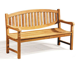 Admirable Details About Kennington Teak 3 Seater Garden Bench 1 5M Jati Brand Lamtechconsult Wood Chair Design Ideas Lamtechconsultcom