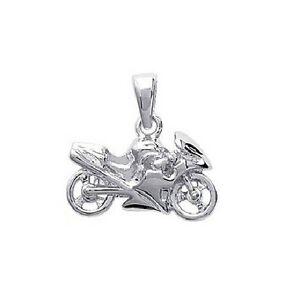 PENDENTIF MOTO special motard en Plaqué OR neuf