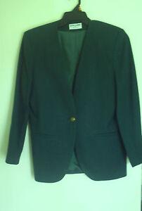Women-039-s-Alfred-Dunner-Wool-Acetate-green-blazer-Jacket-size-8