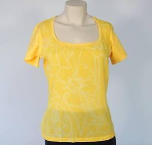 Nike Dri-fit Yellow Sheer Top Athletic Yoga Shirt Womans Large L $45